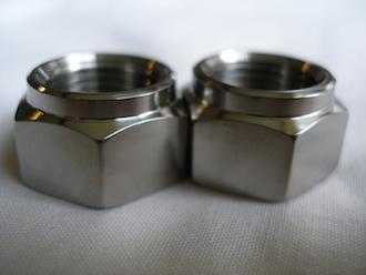 Titanium M14x1.25 plain nuts