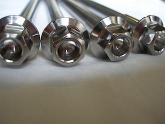 Montessa titanium engine mounting bolt heads