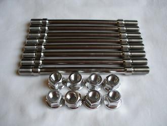 Triumph triple titanium rear wheel studs and 7075 alloy nuts