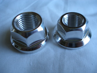 Honda TLR 7075 alloy axle nuts