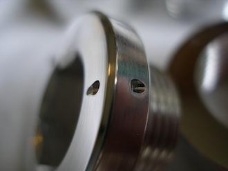 BMW 6082 alloy oil tank filler cap lockwire hole