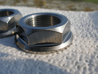 Ducati titanium rear wheel spindle nut