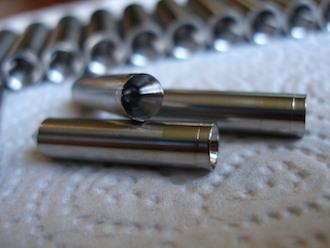 Titanium acoustic spike taper