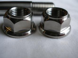 Kawasaki ZX7RR titanium engine mounting bolt nuts