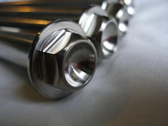 ZX7RR titanium suspension bolt heads