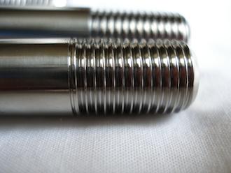 ZX7RR titanium suspension bolt thread M12x1.25