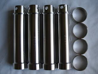 Triumph TR65 7075 alloy push rod tubes and 316 stainless collars
