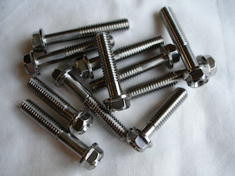 Titanium M6 waisted bolts