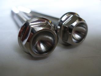 Titanium M8x70 bolt heads