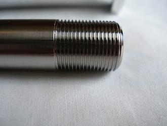 Borile titanium swinging arm axle thread, 15x1