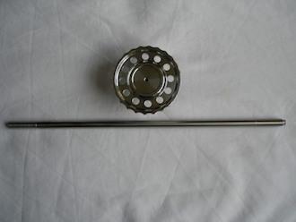 BSA RGS steering damper knob and titanium rod