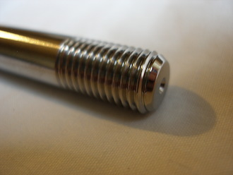 SWM titanium engine mounting bolt thread, M10x1.25