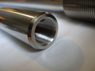 Titanium Suzuki GSXR front wheel spindle thread, 18x1.5