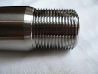 Titanium Suzuki GSXR rear axle thread, 25x1.5