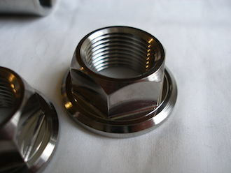 Titanium Suzuki GSXR swinging arm axle nut