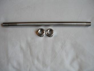 Titanium rear wheel axle and 7075 alloy nuts