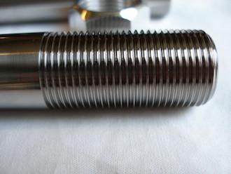 Borile titanium front wheel spindle thread, 20x1.5
