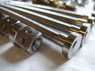 Suzuki GSXR 1000 K6 titanium chain adjusters