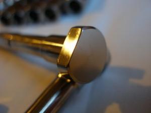 Titanium hillclimb car wheel bolt head