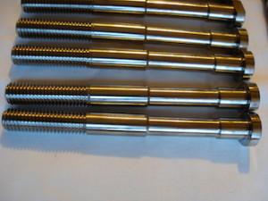 Titanium hillclimb car wheel bolts