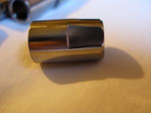 Titanium hillclimb car wheel hub nut flats