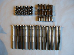 Titanium hillclimb car wheel bolts and nuts