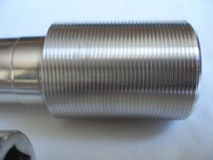 7075 alloy R1 swinging arm spindle head thread