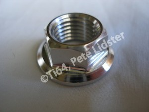 Cheney MX 7075 alloy front wheel spindle nut