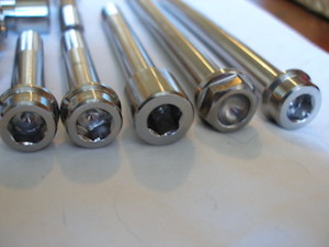 Titanium bolt heads