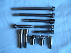Titanium bolts for a Ducati