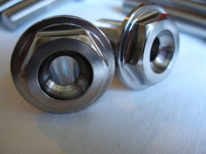 Ducati titanium centre bolt heads