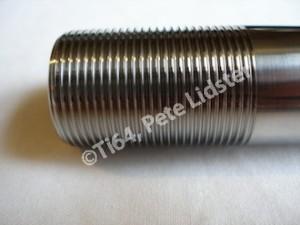 Honda SP2 titanium front wheel spindle thread