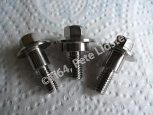 Lotus titanium shouldered bolts