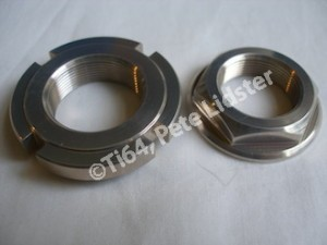 Suzuki GSXR1100 7075 alloy steering head stem top and collar nuts