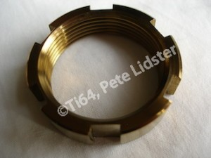 Yamaha R6 gold anodised swinging arm axle collar nut