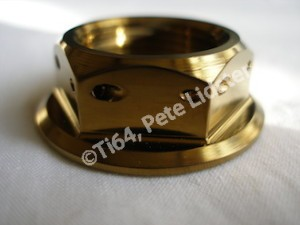 Yamaha R6 gold anodised rear axle nut