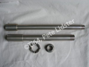 Suzuki GSXR1000K7 7075 alloy axles Surtek 650 coated