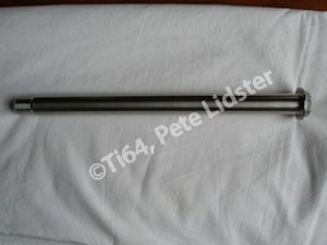 Honda Fireblade titanium rear wheel axle