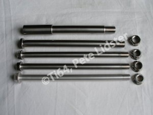 Montessa titanium and 7075 alloy spindle set