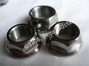 Montessa titanium spindle nuts