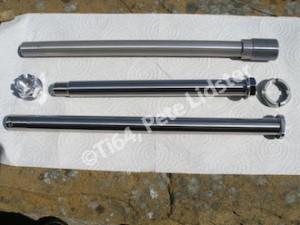 Kawasaki ZX10R titanium and 7075 alloy axles