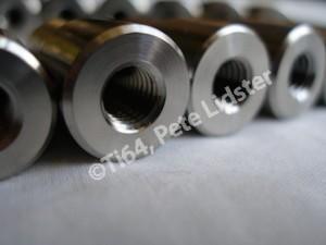 4-40 UNC titanium posts, M8 tapping