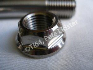 Montessa titanium swinging arm axle nut