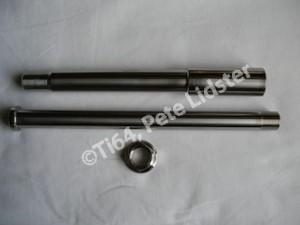 Montessa titanium wheel spindles