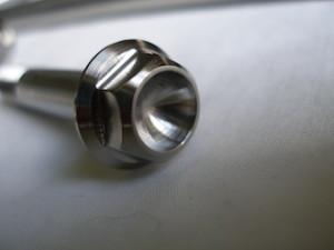 Montessa titanium flanged hex head suspension bolt