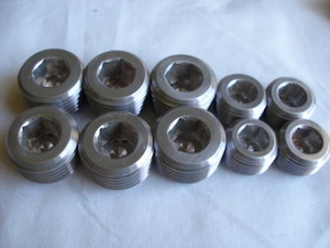 Kawasaki ZXR 7075 alloy engine plugs