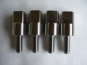 Mazda titanium manifold adapters