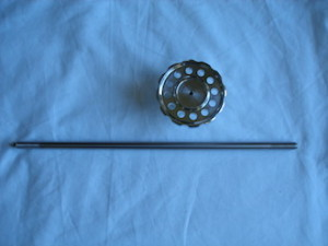 BSA RGS alloy steering damper knob and titanium rod