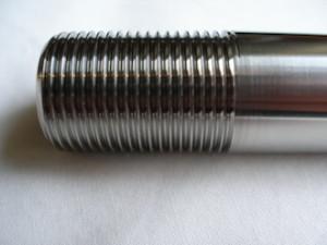 Honda RC30 titanium front wheel axle thread