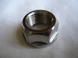 Norton titanium front wheel spindle nut